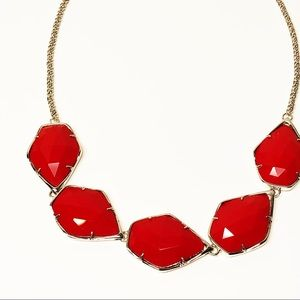 Kendra Scott • Connely Necklace in Red & Silver